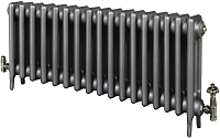 Eastgate Victoriana 3 Column 17 Section Cast Iron Radiator 450mm High x 1057mm Wide - Metallic Finish
